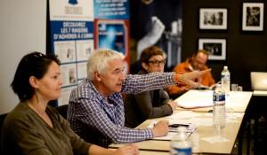 Conseil d'administration en réunion